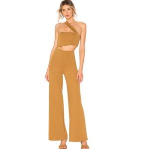 House of Harlow Fabian jumpsuit toffee cutout